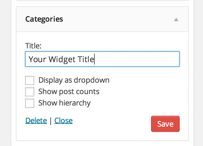 Travelify Widget Title